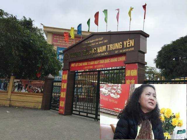 Hoc sinh bi dam gay chan trong san truong: Them thong tin bat ngo ve hieu truong tieu hoc Nam Trung Yen hinh anh 1
