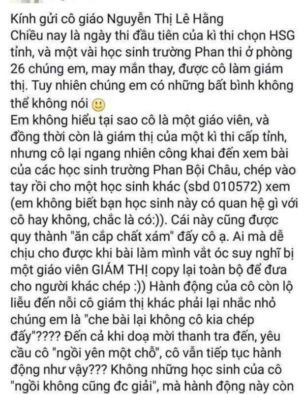 Gian lan trong thi hoc sinh gioi o Nghe An: Dinh chi 2 can bo coi thi hinh anh 2