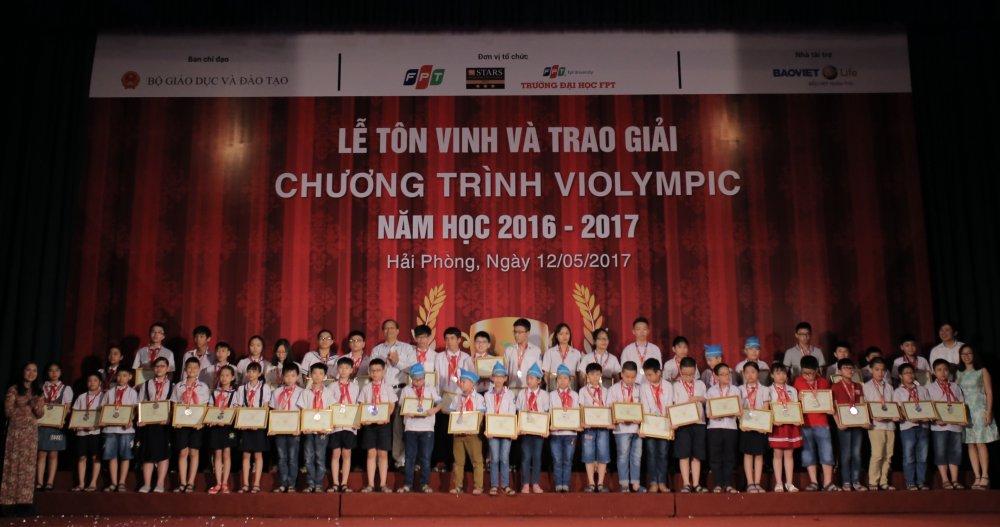 Vinh danh gan 4.500 hoc sinh doat giai cuoc thi Violympic Toan, Vat ly hinh anh 2