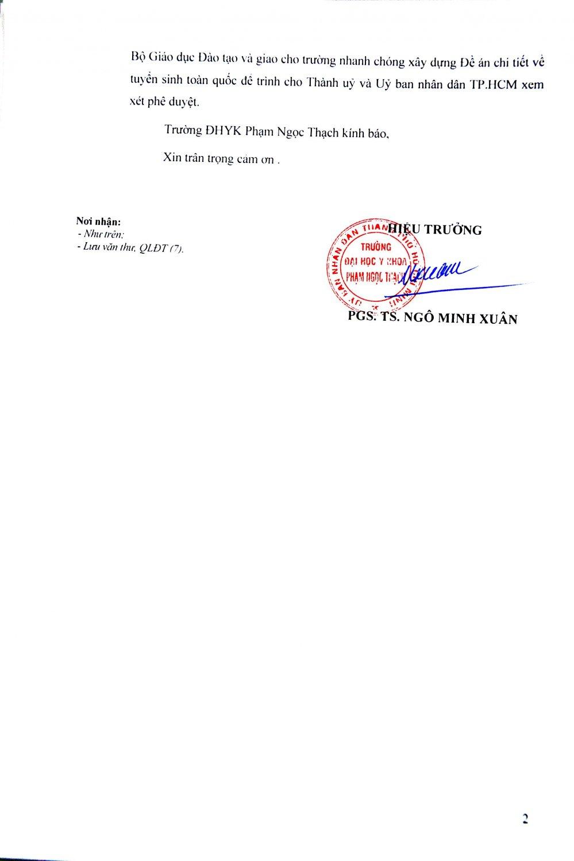 Dai hoc Y khoa Pham Ngoc Thach duoc tuyen sinh trong ca nuoc hinh anh 2