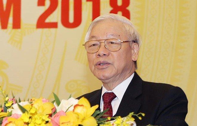 Tong Bi thu: Phai giu nuoc tu xa, giu nuoc tu khi nuoc chua nguy hinh anh 1