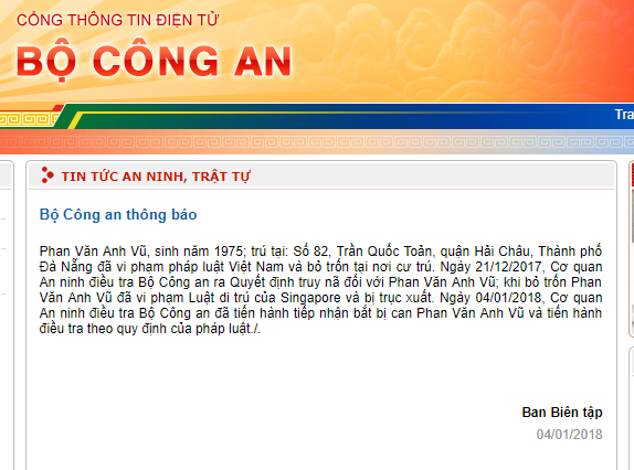Thong tin moi nhat tu Bo Cong an: Da bat duoc Vu 'nhom' hinh anh 1