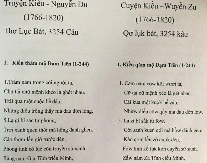 PGS Bui Hien viet lai 'Truyen Kieu' bang chu cai tieng Viet cai tien hinh anh 1