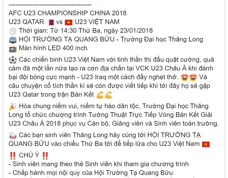 Truc tiep: Sinh vien Ha thanh keo den kin hoi truong co vu U23 Viet Nam hinh anh 20