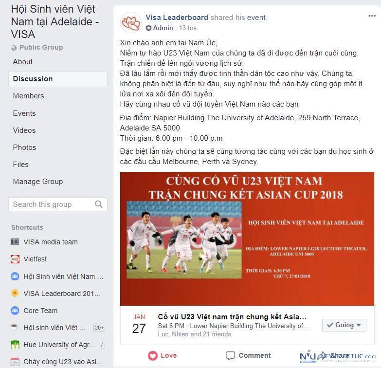 Lan dau tien sinh vien Viet Nam tai cac tieu bang Uc cung live stream co vu U23 VN hinh anh 6