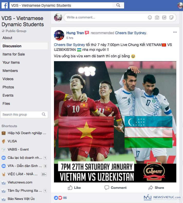 Lan dau tien sinh vien Viet Nam tai cac tieu bang Uc cung live stream co vu U23 VN hinh anh 7
