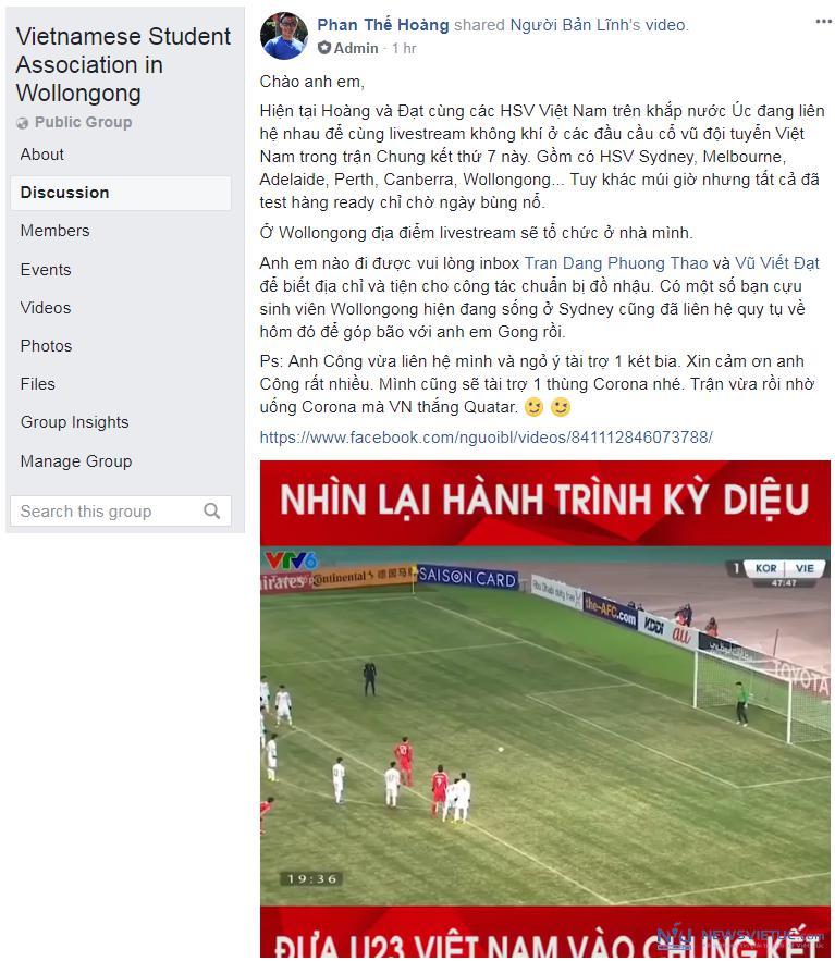 Lan dau tien sinh vien Viet Nam tai cac tieu bang Uc cung live stream co vu U23 VN hinh anh 5