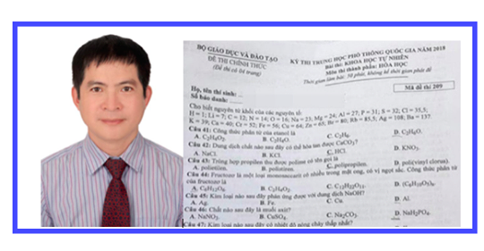 TS Vu Anh Tuan: De thi mon Hoa hoc khong phu hop lam trong 50 phut hinh anh 1