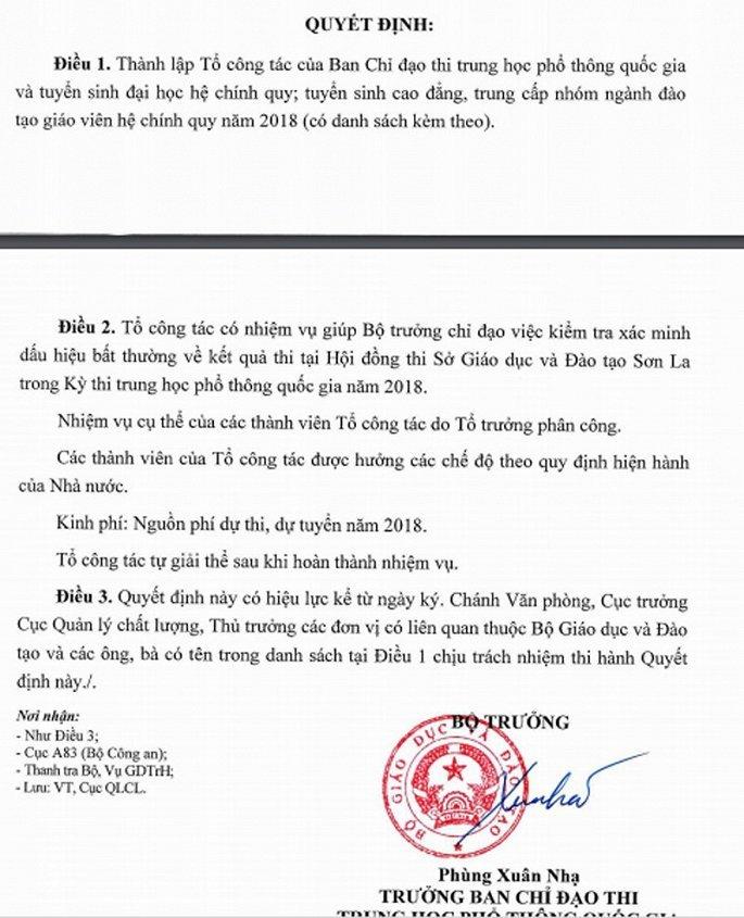 Sai pham cham thi chan dong o Ha Giang: Lanh dao GD-DT len tieng hinh anh 1
