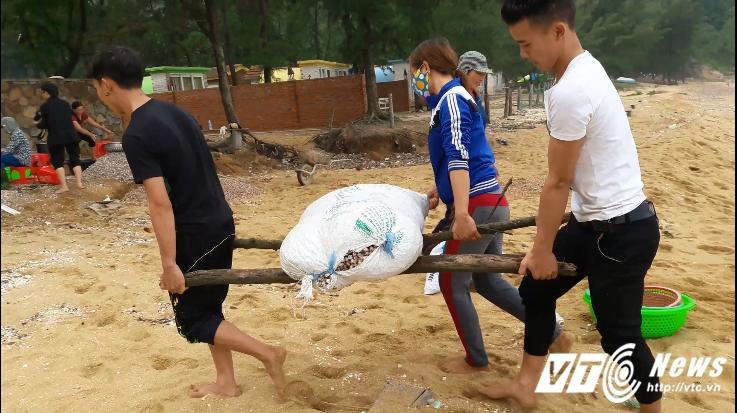 Anh: Dan Ha Tinh do xo vot 'loc bien', kiem hang chuc trieu dong hinh anh 7