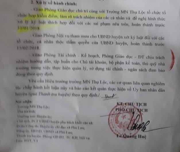 Truong mam non o Ha Tinh bi to lam thu: Thu hoi hon 100 trieu dong hinh anh 3