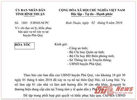 Thong tin moi vu no rung chuyen dao Phu Quy hinh anh 1