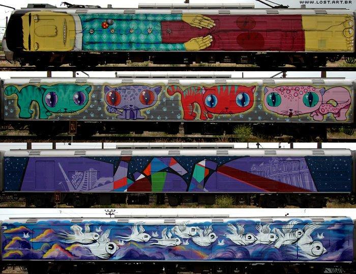 Anh: Nhung tac pham graffiti an tuong tren cac toa tau khap the gioi hinh anh 10