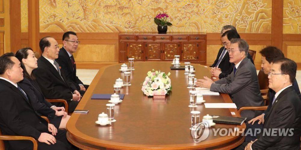 Ong Kim Jong-un moi Tong thong Han Quoc Moon Jae-in tham Trieu Tien trong thu rieng hinh anh 1