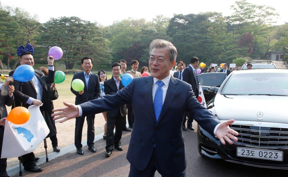 Tổng thống Hàn Quốc Moon Jae-in trước khi lên đường đến biên giới gặp Chủ tịch Triều Tiên