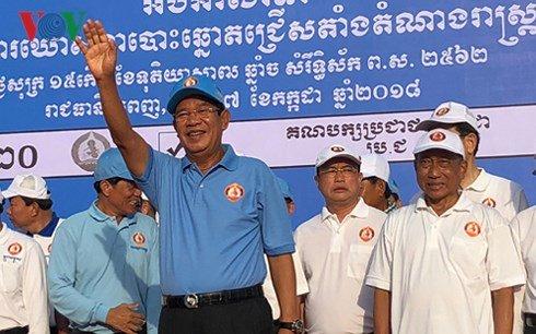 Dang cua Thu tuong Hun Sen gianh thang loi vang doi trong cuoc bau cu Quoc Hoi Campuchia hinh anh 1