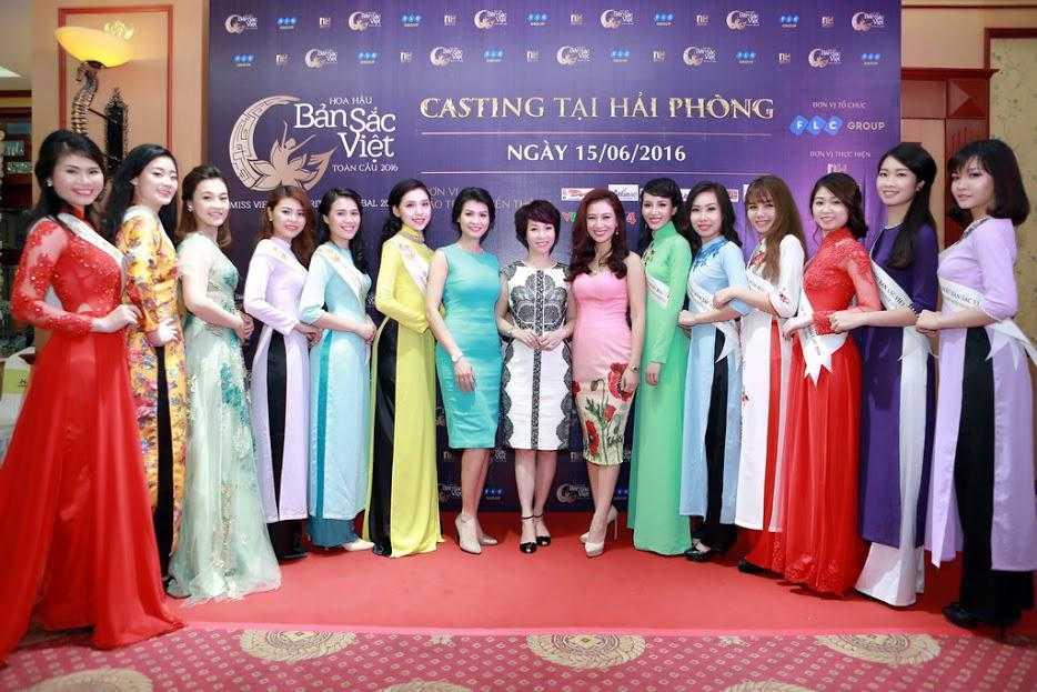 Cac nguoi dep rang ro tai casting Hoa hau Ban sac Viet toan cau Ha Long, Hai Phong hinh anh 11