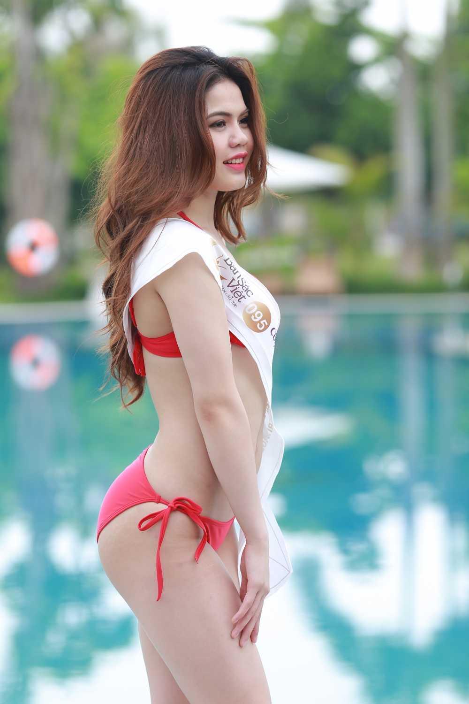 Thi sinh mien Bac Hoa hau Ban sac Viet toan cau nong bong voi bikini hinh anh 21