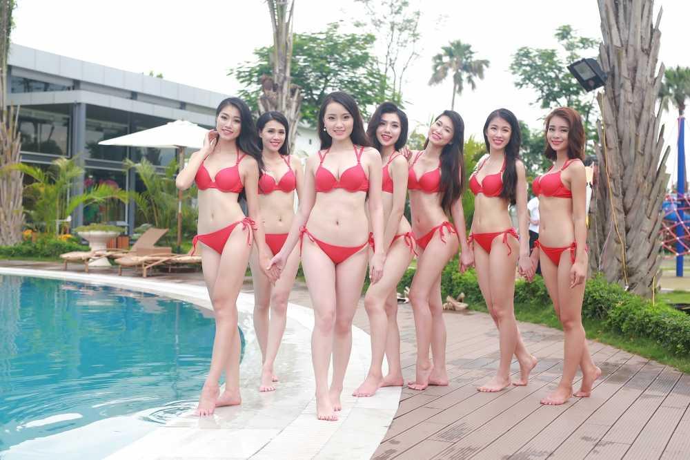 Thi sinh mien Bac Hoa hau Ban sac Viet toan cau nong bong voi bikini hinh anh 24