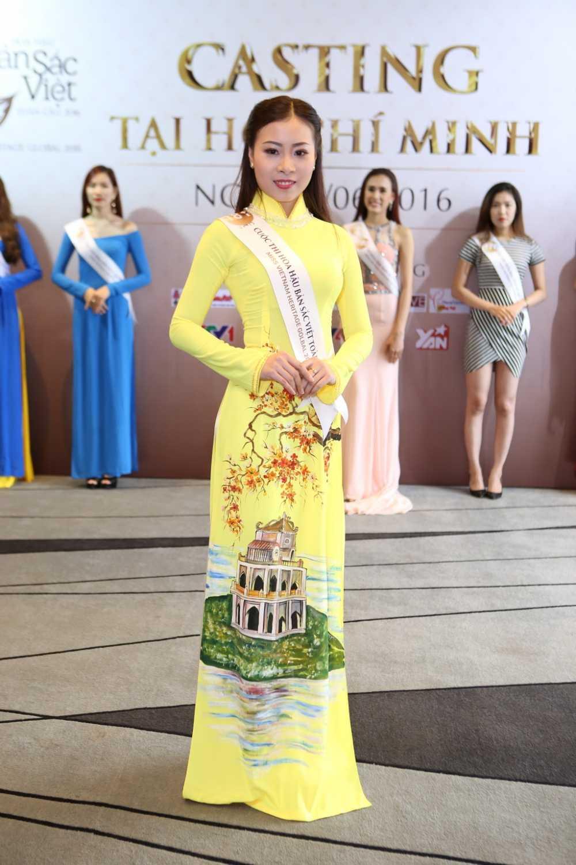 Ha Kieu Anh ngoi ghe giam khao ban ket phia Nam Hoa hau Ban sac Viet toan cau hinh anh 3