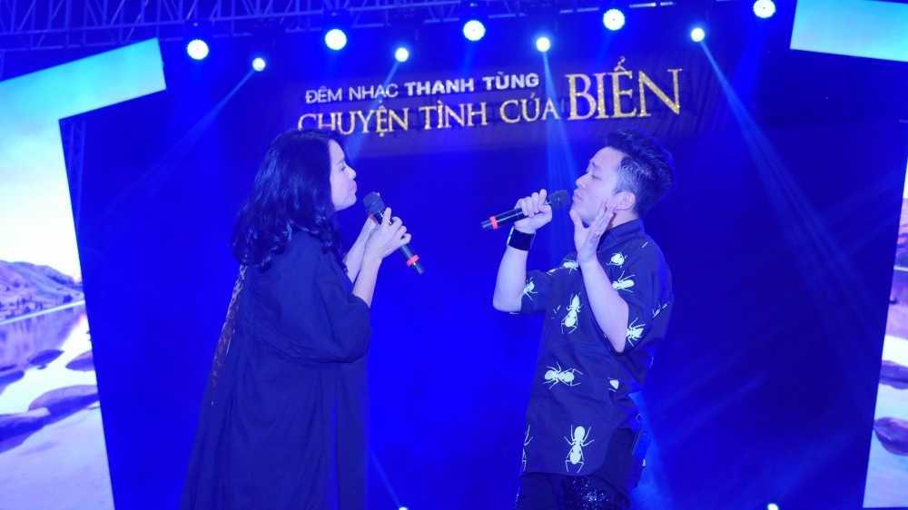 Thanh Lam, Tung Duong dien 'cay den' tai tong duyet 'Chuyen tinh cua Bien' hinh anh 1