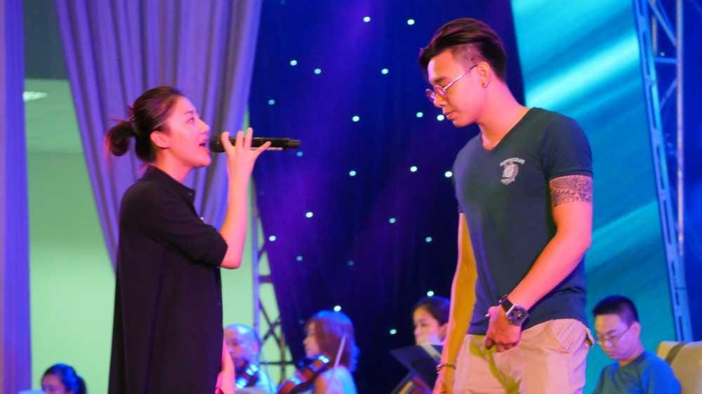 Thanh Lam, Tung Duong dien 'cay den' tai tong duyet 'Chuyen tinh cua Bien' hinh anh 4