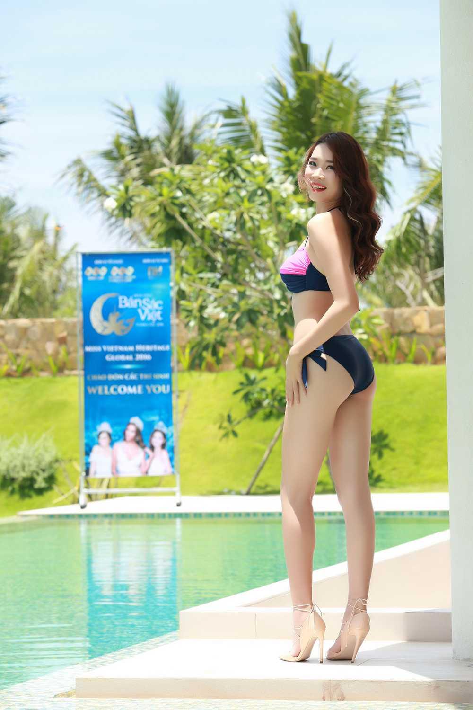 Nguoi dep co chieu cao 'khung nhat Vinh Bac Bo' tai Hoa hau Ban sac Viet hinh anh 3
