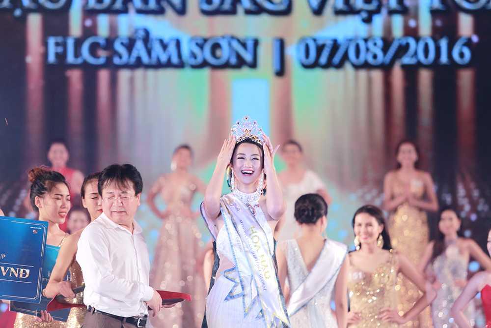 Nguoi dep Tran Thi Thu Ngan dang quang Hoa hau ban sac Viet toan cau 2016 hinh anh 2