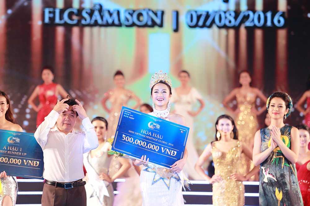 Nguoi dep Tran Thi Thu Ngan dang quang Hoa hau ban sac Viet toan cau 2016 hinh anh 1