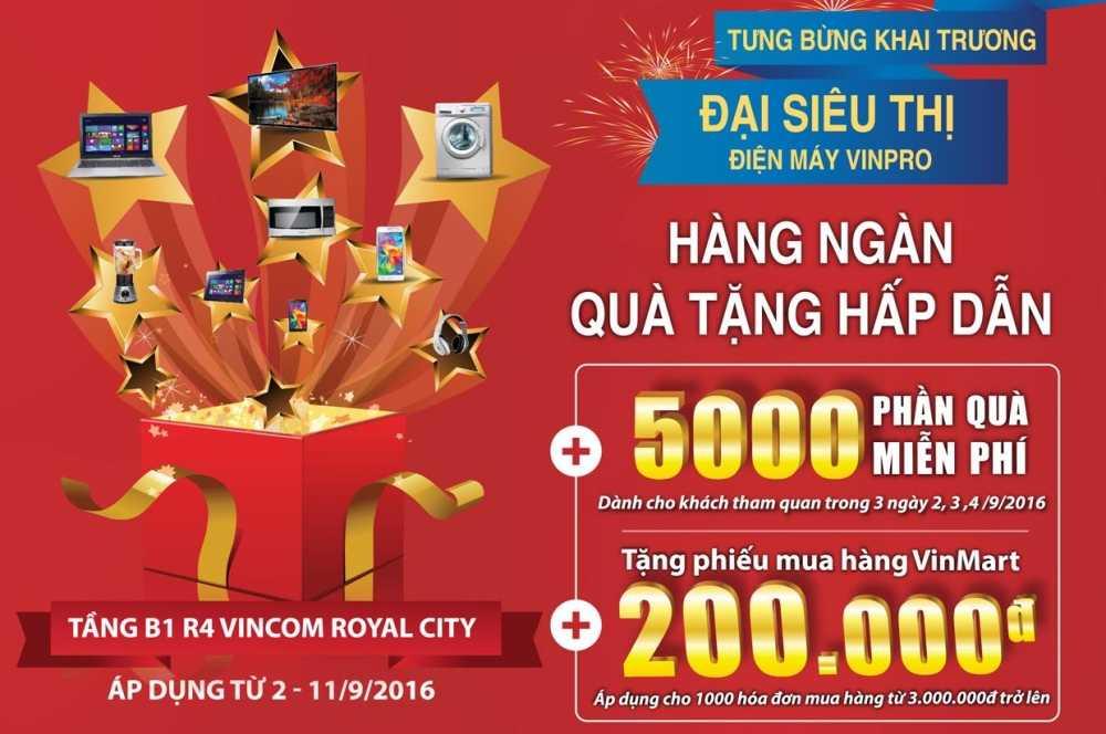VinPro khai truong Dai sieu thi dien may quy mo 5.000m2 hinh anh 1