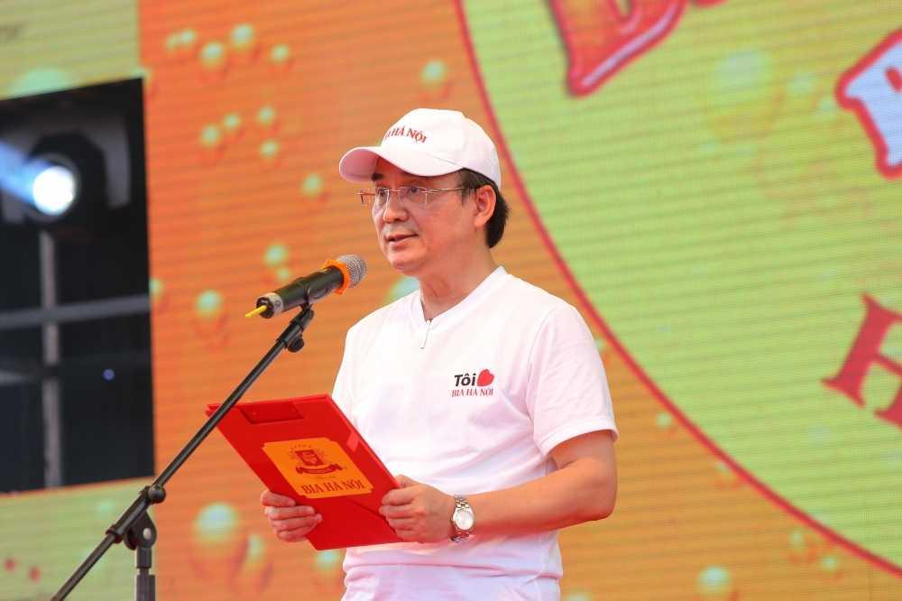 Nguoi dan Thanh Tuyen hao huc cho don Ngay hoi bia Ha Noi 2016 hinh anh 1