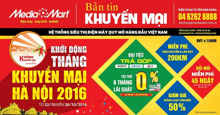 Tuan le khoi dong thang khuyen mai Ha Noi 2016 tai MediaMart hinh anh 1