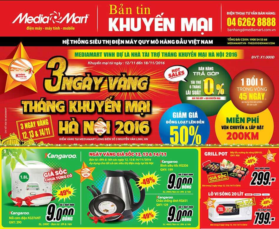 MediaMart - Diem vang mua sam trong Ngay vang Thang khuyen mai Ha Noi 2016 hinh anh 2