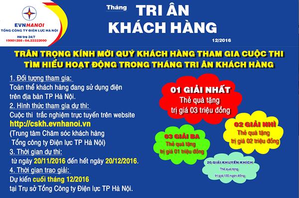 EVN HANOI phat dong cuoc thi 'Tim hieu ve hoat dong thang Tri an khach hang' hinh anh 2