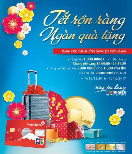 'Gio Vang' cho chu the tin dung JCB VietinBank hinh anh 1