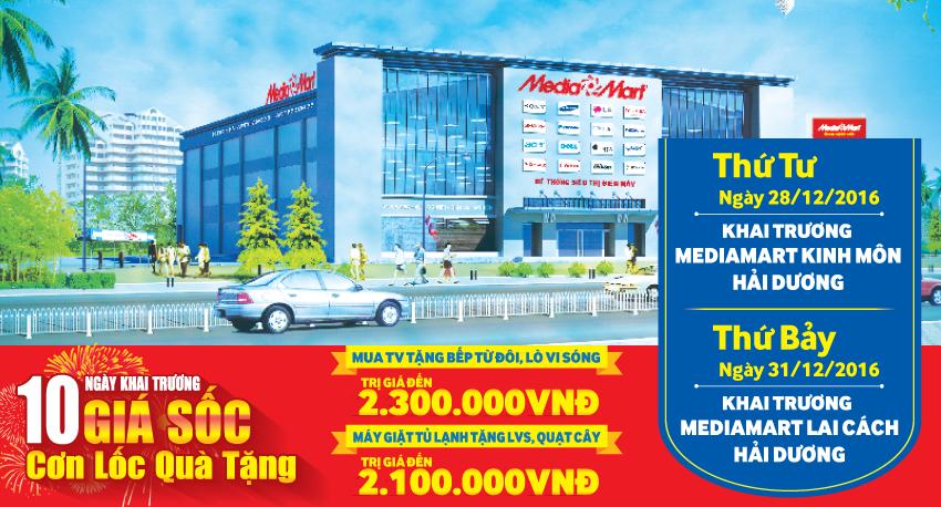 MediaMart lien tiep khai truong them 2 sieu thi dien may moi tai Hai Duong hinh anh 1