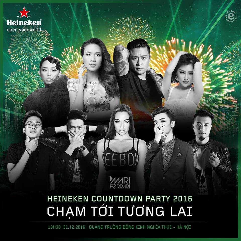 Dai tiec am nhac Heineken Countdown Party 2016 cham toi khoanh khac tuong lai hinh anh 1