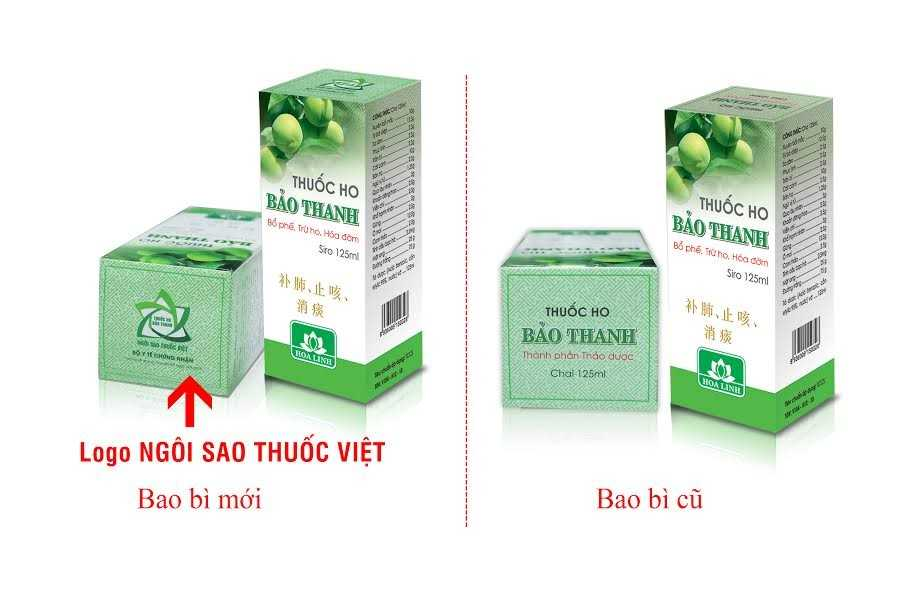 Thuoc ho Bao Thanh in bo sung logo Ngoi sao thuoc Viet tren bao bi san pham hinh anh 1
