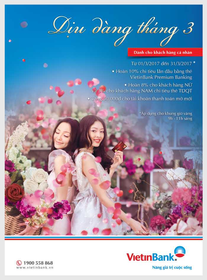 VietinBank uu dai dac biet danh tang khach hang nu nhan dip 8/3 hinh anh 1