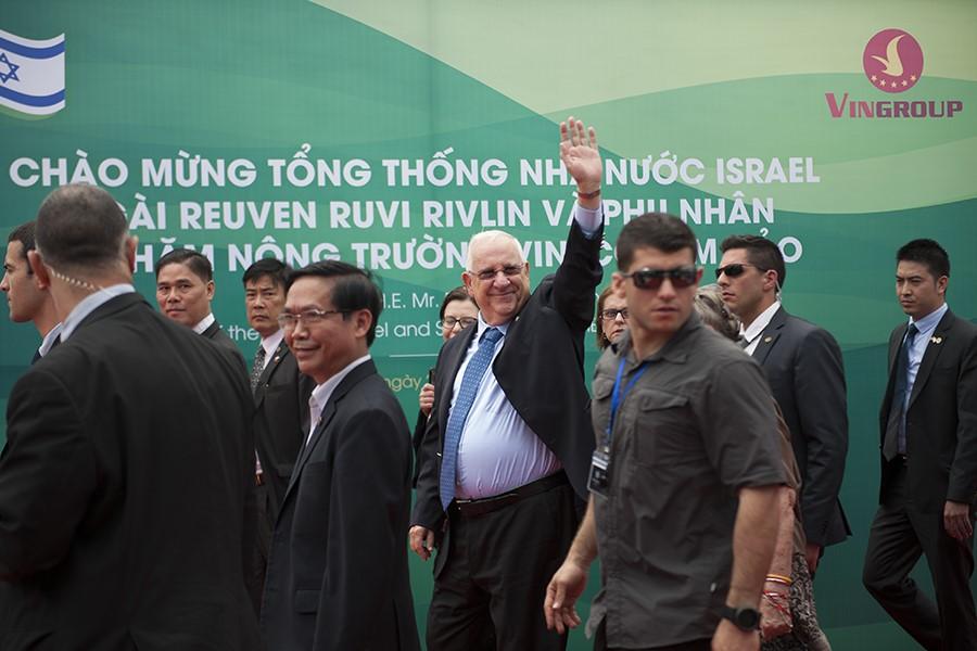 Tong thong Israel va Phu nhan tham Nong truong VinEco Tam Dao hinh anh 11