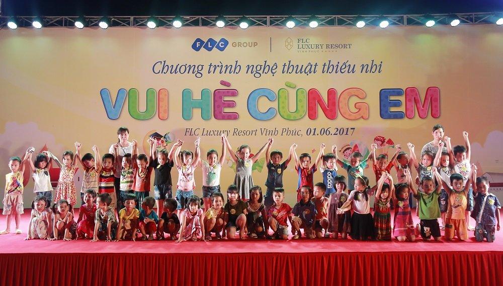 Tung bung chuong trinh 'Vui he cung em' cua FLC danh cho thieu nhi Vinh Thinh hinh anh 1
