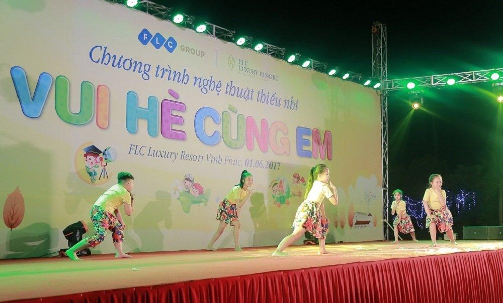 Tung bung chuong trinh 'Vui he cung em' cua FLC danh cho thieu nhi Vinh Thinh hinh anh 10