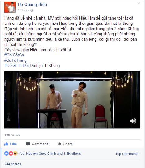 Ho Quang Hieu: 'Doi gi thi doi, doi ban thi khong' hinh anh 1