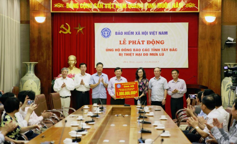 BHXH Viet Nam: Ung ho dong bao bi lu lut cac tinh Tay Bac 1 ty dong hinh anh 1