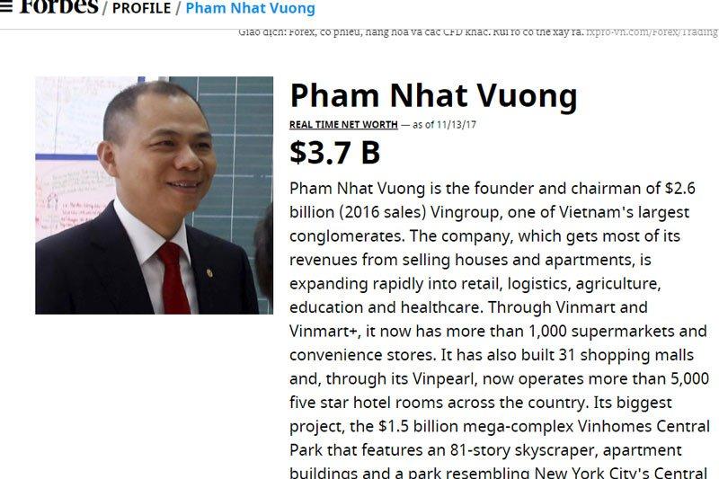 Vuot Donald Trump, ong Pham Nhat Vuong lo tai san 4,8 ty USD hinh anh 1