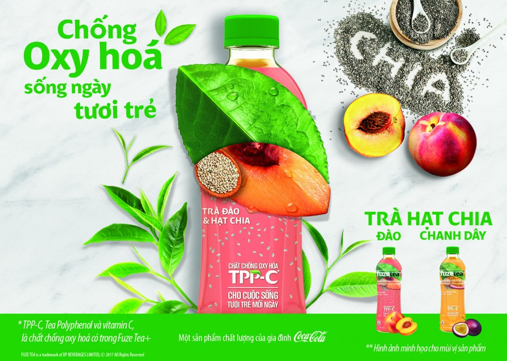 Coca-Cola Viet Nam ra mat FUZETEA+ chong Oxy-hoa - Song ngay tuoi tre hinh anh 1
