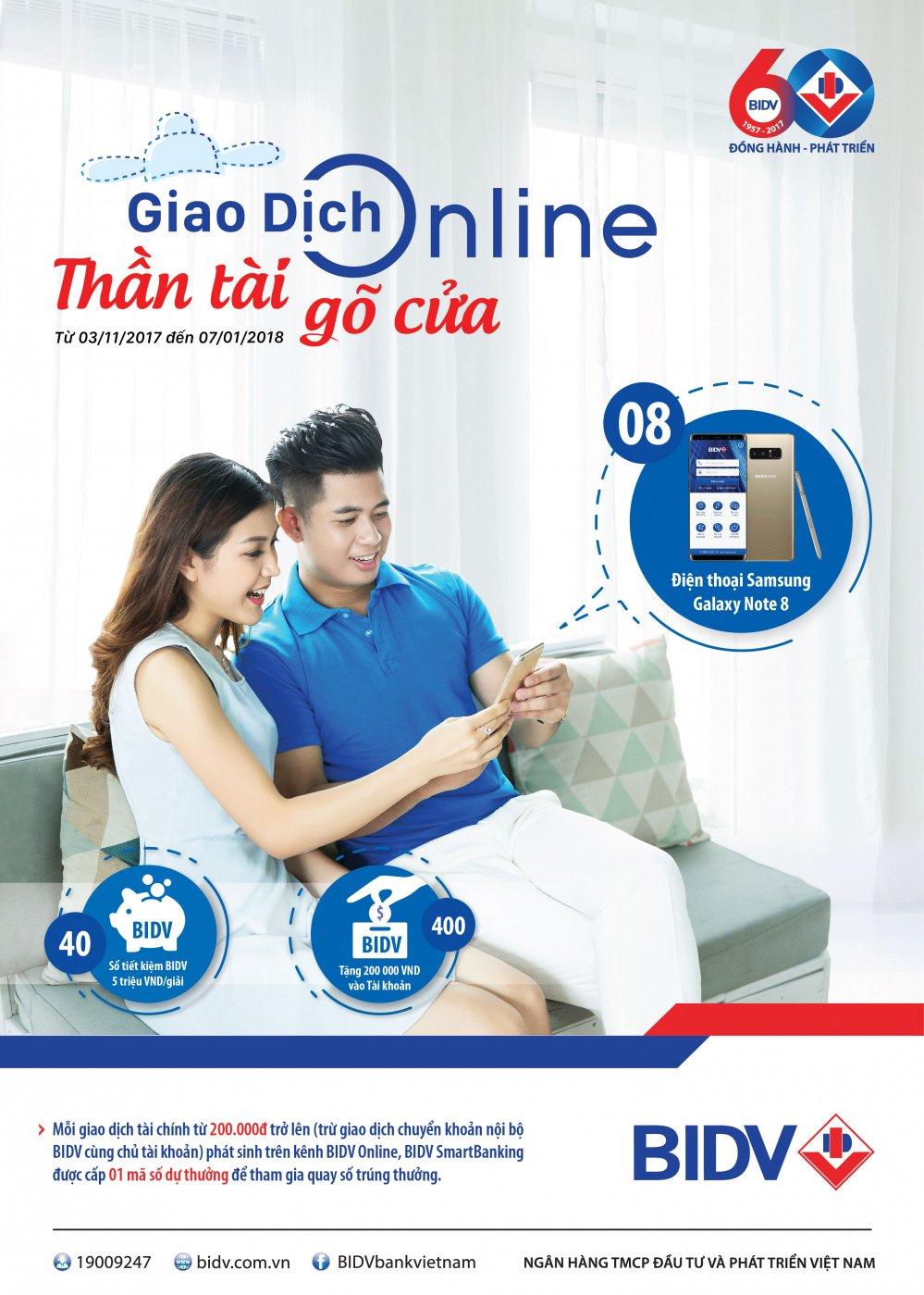 Giao dich Online nhanh tay cung BIDV e-Banking va don ngay 'Than tai go cua' hinh anh 1
