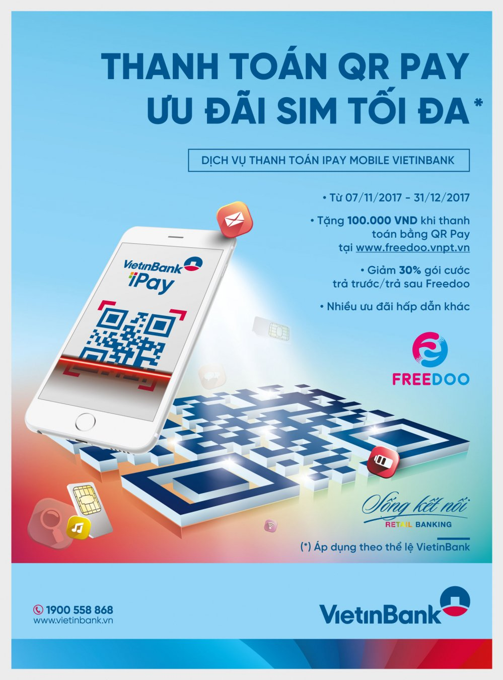 Thanh toan QR Pay nhan sim VinaPhone voi nhieu uu dai hap dan cung VietinBank hinh anh 1
