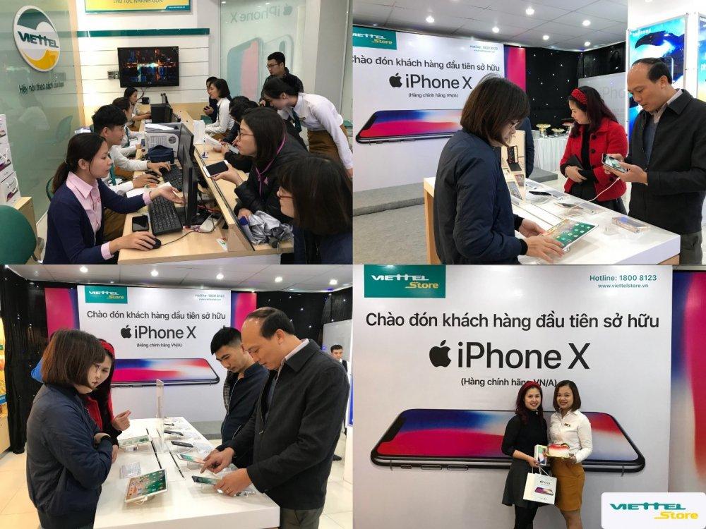 Tro gia 4 trieu dong, iPhone X chinh hang tai Viettel Store vua mo ban da thu ve doanh thu ky luc hinh anh 3