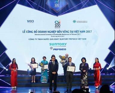 Suntory PepsiCo Viet Nam lien tuc duoc vinh danh Doanh nghiep ben vung va cong hien cho cong dong hinh anh 2